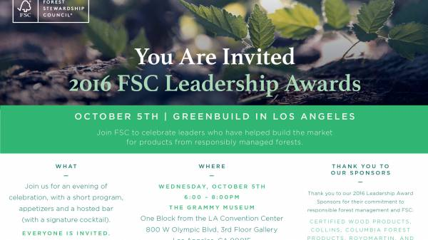 2016 Leadership Awards Invitiation